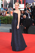 Actress Amy Ryan attends the Opening Ceremony and 'Birdman' premiere during the 71st Venice Film Festival at Palazzo Del Cinema on August 27 2014 in...
