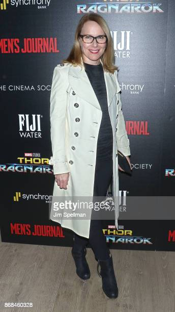 Actress Amy Ryan attends the screening of Marvel Studios' 'Thor Ragnarok' hosted by The Cinema Society with FIJI Water Men's Journal and Synchrony at...