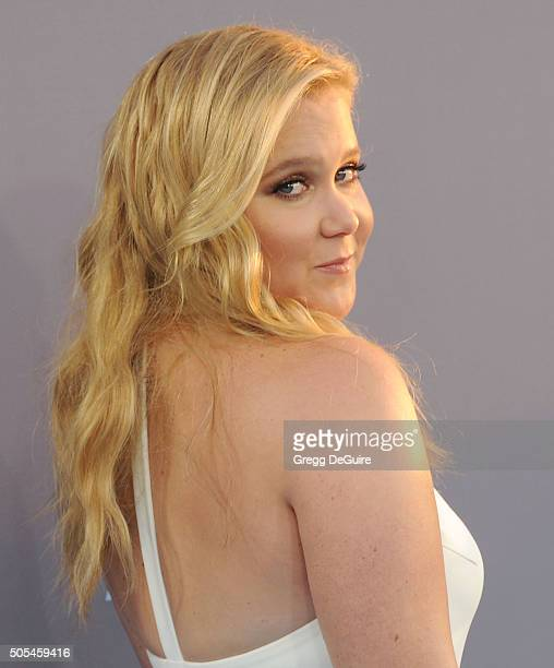 Actress Amy Schumer arrives at the 21st Annual Critics' Choice Awards at Barker Hangar on January 17 2016 in Santa Monica California