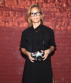 Actress Amy Sedaris attends the Adam Selman presentation during Spring 2014 MercedesBenz Fashion Week at Algus Greenspon Gallery on September 5 2013...