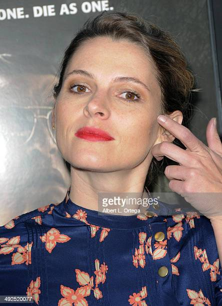 Actress Amy Seimetz arrives to the premiere of Worldview Entertainment and Arcade Pictures' 'The Sacrament' held at ArcLight Cinemas on May 20 2014...