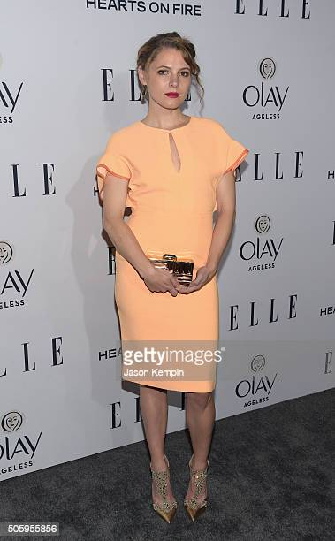 Actress Amy Seimetz attends ELLE's 6th Annual Women In Television Dinner at Sunset Tower Hotel on January 20 2016 in West Hollywood California