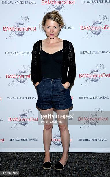 Actress Amy Seimetz attends 'Short Term 12' Closing Night Screening BAMCinemafest 2013 at BAM Harvey Theater on June 28 2013 in New York City