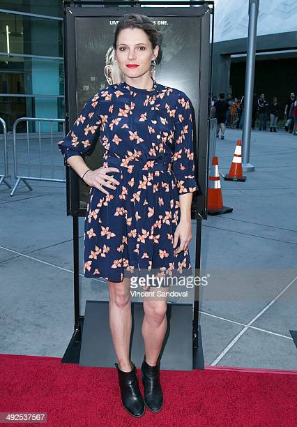 Actress Amy Seimetz attends the Los Angeles Premiere of 'The Sacrament' at ArcLight Cinemas on May 20 2014 in Hollywood California