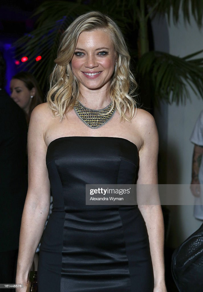 Actress <a gi-track='captionPersonalityLinkClicked' href=/galleries/search?phrase=Amy+Smart&family=editorial&specificpeople=239532 ng-click='$event.stopPropagation()'>Amy Smart</a> attends the Warner Music Group 2013 Grammy Celebration Presented By Mini at Chateau Marmont on February 10, 2013 in Los Angeles, California.