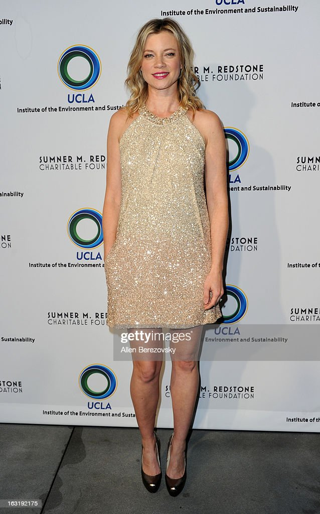 Actress Amy Smart attends UCLA Institute Of The Environment And Sustainability's 2nd Annual 'An Evening Of Environmental Excellence' - Arrivals on March 5, 2013 in Beverly Hills, California.