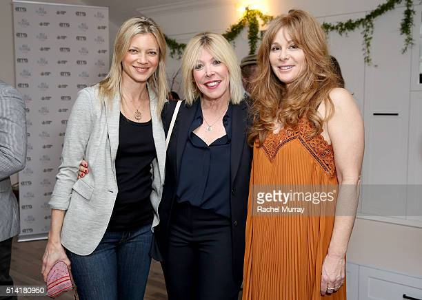 Actress Amy Smart Environmental Media Association President Debbie Levin and Au Fudge Coowner Kimberly Muller attend EMA Sierra Club present 'Ready...