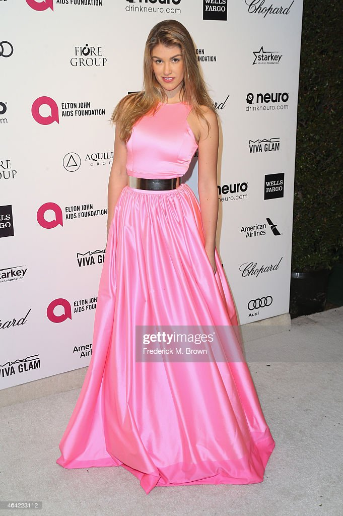 Actress Amy Willerton attends the 23rd Annual Elton John AIDS Foundation's Oscar Viewing Party on February 22, 2015 in West Hollywood, California.