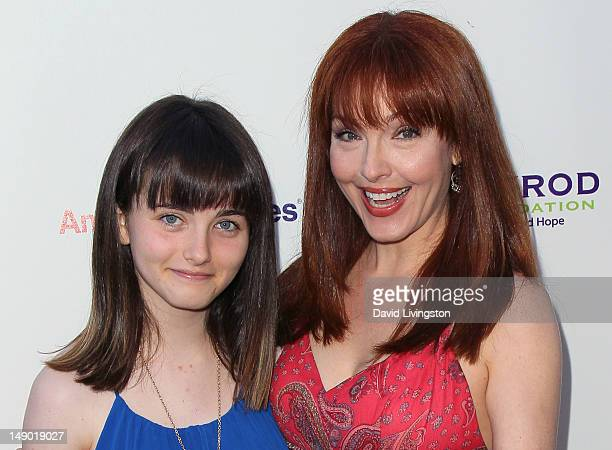 Actress Amy Yasbeck and daughter Stella Ritter attend the 14th Annual DesignCare event at a private residence on July 21 2012 in Malibu California