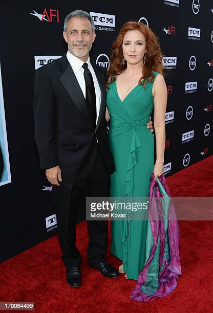 Actress Amy Yasbeck and Michael J Plonsker attend 41st AFI Life Achievement Award Honoring Mel Brooks at Dolby Theatre on June 6 2013 in Hollywood...