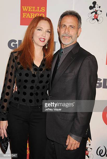 Actress Amy Yasbeck and Michael Plonsker attend the 9th Annual GLSEN Respect Awards held at the Beverly Hills Hotel on October 18 2013 in Beverly...