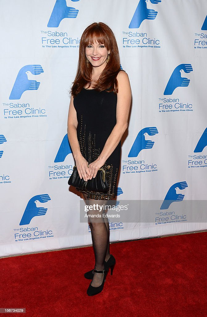 Actress Amy Yasbeck arrives at the Saban Free Clinic's 36th Annual Dinner Gala at The Beverly Hilton Hotel on November 19, 2012 in Beverly Hills, California.