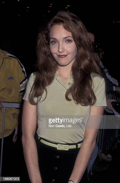 Actress Amy Yasbeck attending the premiere of 'Ace VenturaWhen Nature Calls' on November 8 1995 at Mann Village Theater in Westwood California