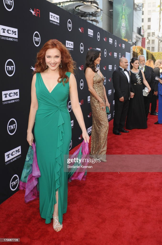 Actress <a gi-track='captionPersonalityLinkClicked' href=/galleries/search?phrase=Amy+Yasbeck&family=editorial&specificpeople=211474 ng-click='$event.stopPropagation()'>Amy Yasbeck</a> attends AFI's 41st Life Achievement Award Tribute to Mel Brooks at Dolby Theatre on June 6, 2013 in Hollywood, California. 23647_003_SK_0144.JPG