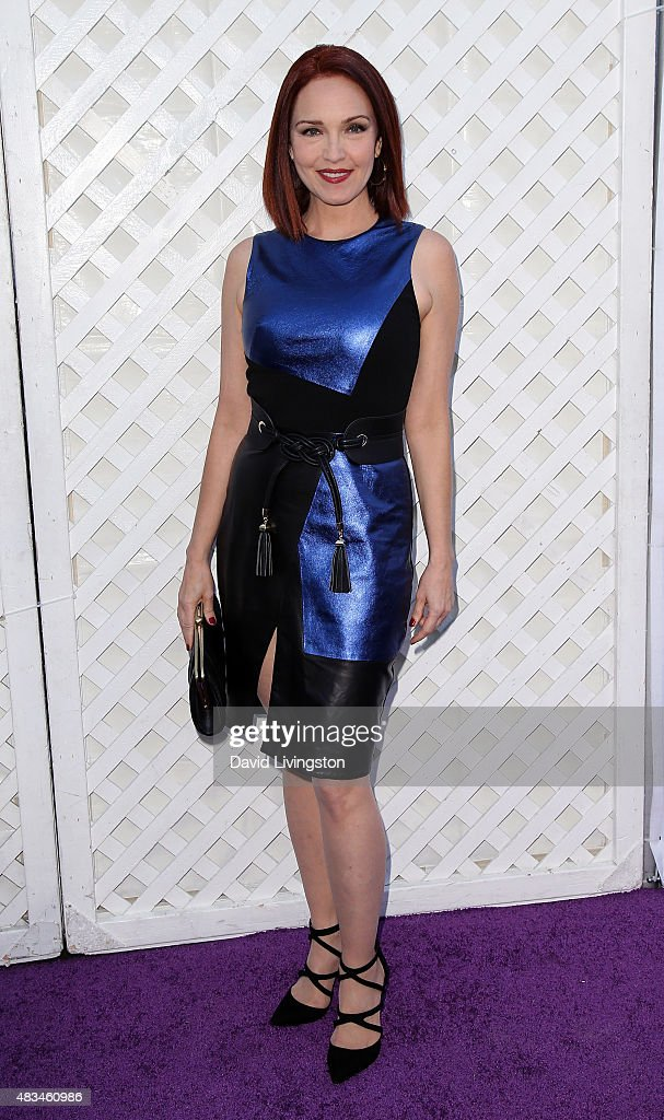 Actress Amy Yasbeck attends the 17th Annual DesignCare Gala at The Lot Studios on August 8, 2015 in Los Angeles, California.