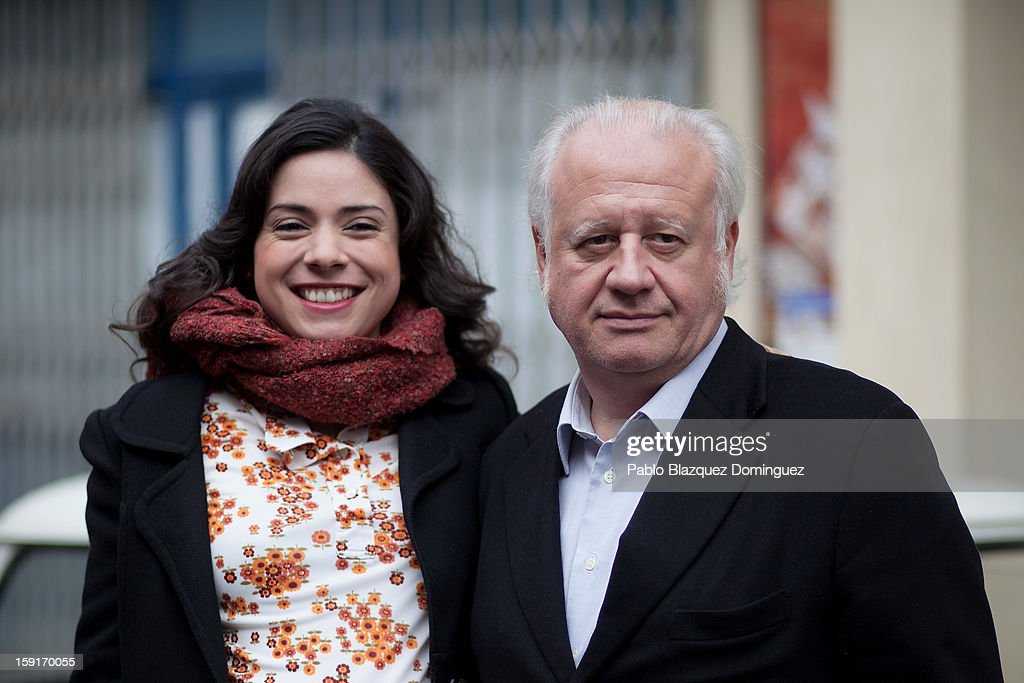 Actress Ana Arias and actor Juan Echanove attend 'Cuentame Como Paso' 14th Season presentation at Estudios Grupo Ganga on January 9, 2013 in Pinto, Spain.