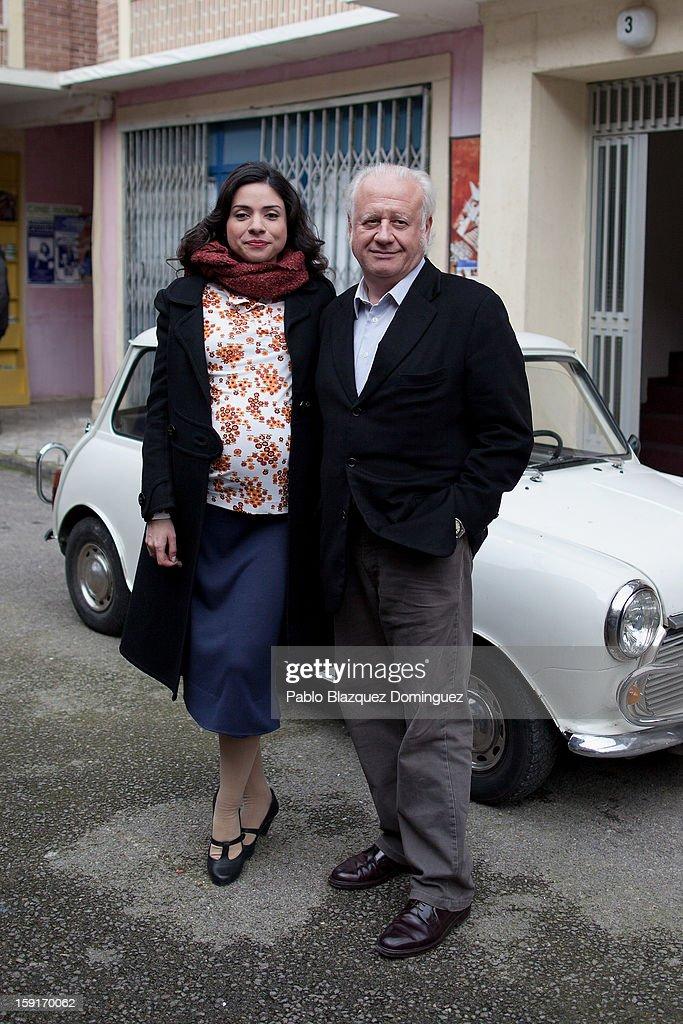 Actress Ana Arias and actor Juan Echanove attend 'Cuentame Como Paso' 14th Season presentation at Estudios Grupo Ganga on January 9, 2013 in Pinto, Spain.