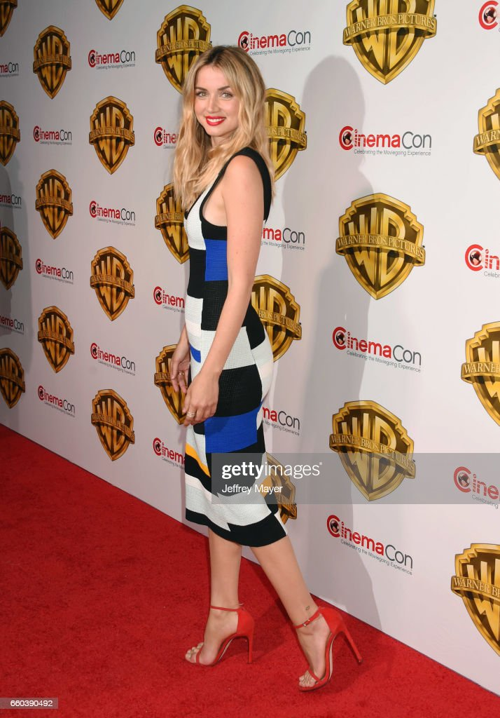 Actress Ana De Armas arrives at the CinemaCon 2017 Warner Bros. Pictures presentation of their upcoming slate of films at The Colosseum at Caesars Palace on March 29, 2017 in Las Vegas, Nevada.