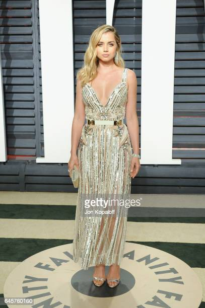 Actress Ana de Armas attends the 2017 Vanity Fair Oscar Party hosted by Graydon Carter at Wallis Annenberg Center for the Performing Arts on February...