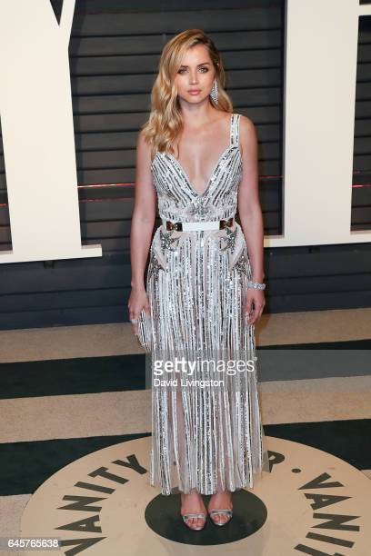 Actress Ana de Armas attends the 2017 Vanity Fair Oscar Party hosted by Graydon Carter at the Wallis Annenberg Center for the Performing Arts on...