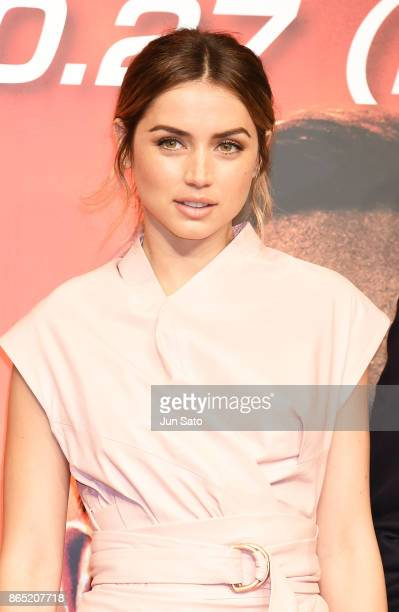 Actress Ana de Armas attends the 'Blade Runner 2049' press confrence at the RitzCarlton on October 23 2017 in Tokyo Japan