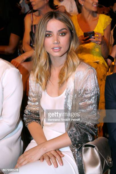 Actress Ana de Armas attends the Giorgio Armani Prive Haute Couture Fall/Winter 20172018 show as part of Haute Couture Paris Fashion Week on July 4...