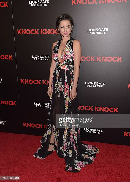 Actress Ana de Armas attends the premiere of 'Knock Knock' at TCL Chinese Theatre on October 7 2015 in Hollywood California