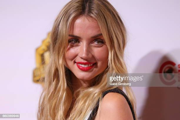 Actress Ana de Armas attends the Warner Bros Pictures presentation during CinemaCon at The Colosseum at Caesars Palace on March 29 2017 in Las Vegas...