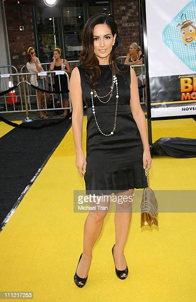 Actress Ana de la Reguera arrives at the Los Angeles Premiere of 'Bee Movie' held at the Mann Bruin Theatre on October 28 2007 in Westwood California