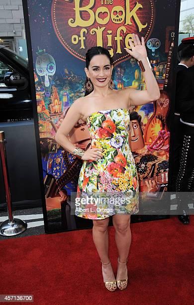 Actress Ana de la Reguera arrives for the Premiere Of Twentieth Century Fox And Reel FX Animation Studios' 'The Book Of Life' held at Regal Cinemas...