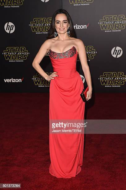 Actress Ana de la Reguera attends Premiere of Walt Disney Pictures and Lucasfilm's 'Star Wars The Force Awakens' on December 14 2015 in Hollywood...
