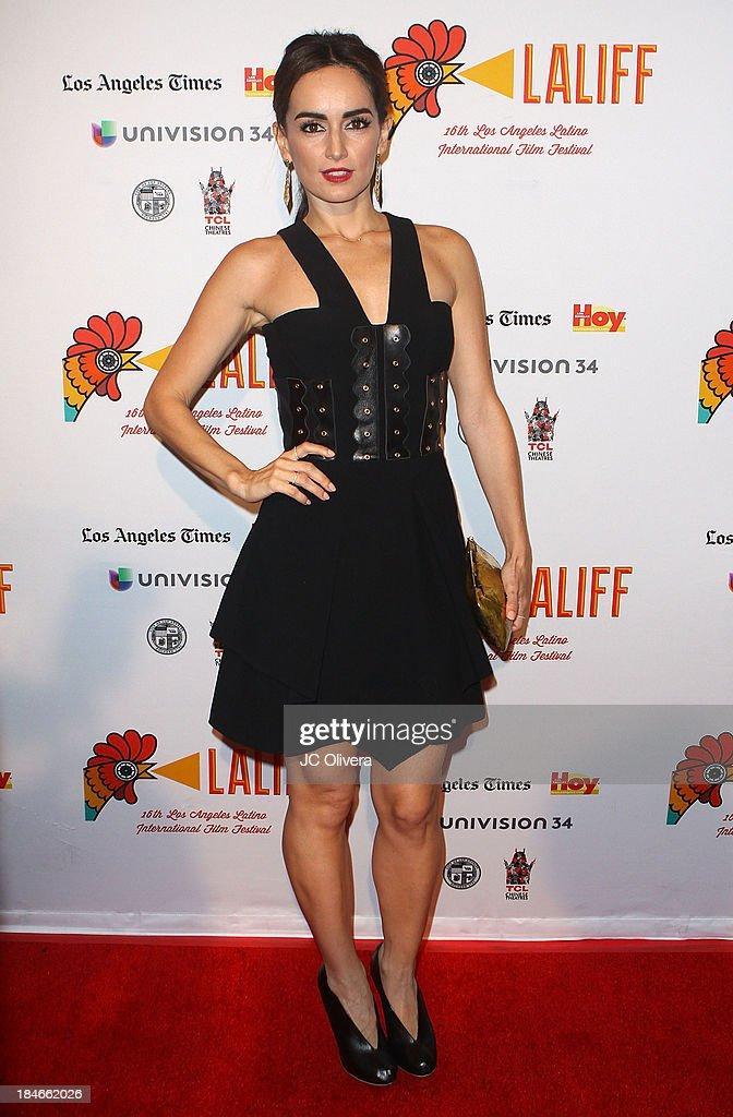 Actress Ana De La Reguera attends The 2013 Los Angeles Latino International Film Festival - Closing Night Premiere of 'Nosotros Los Nobles' at The Orpheum Theatre on October 14, 2013 in Los Angeles, California.