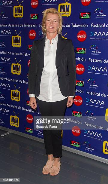 Actress Ana Duato attends 'Cuentame como paso' photocall at Matadero Madrid on November 23 2015 in Madrid Spain