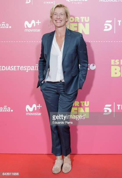 Actress Ana Duato attends the 'Es por tu bien' premiere at Capitol cinema on February 22 2017 in Madrid Spain