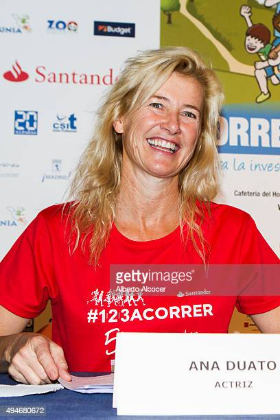 Actress Ana Duato during the presentation of the Charity Running Race 'Corre Por El Nino' on October 28 2015 in Madrid Spain