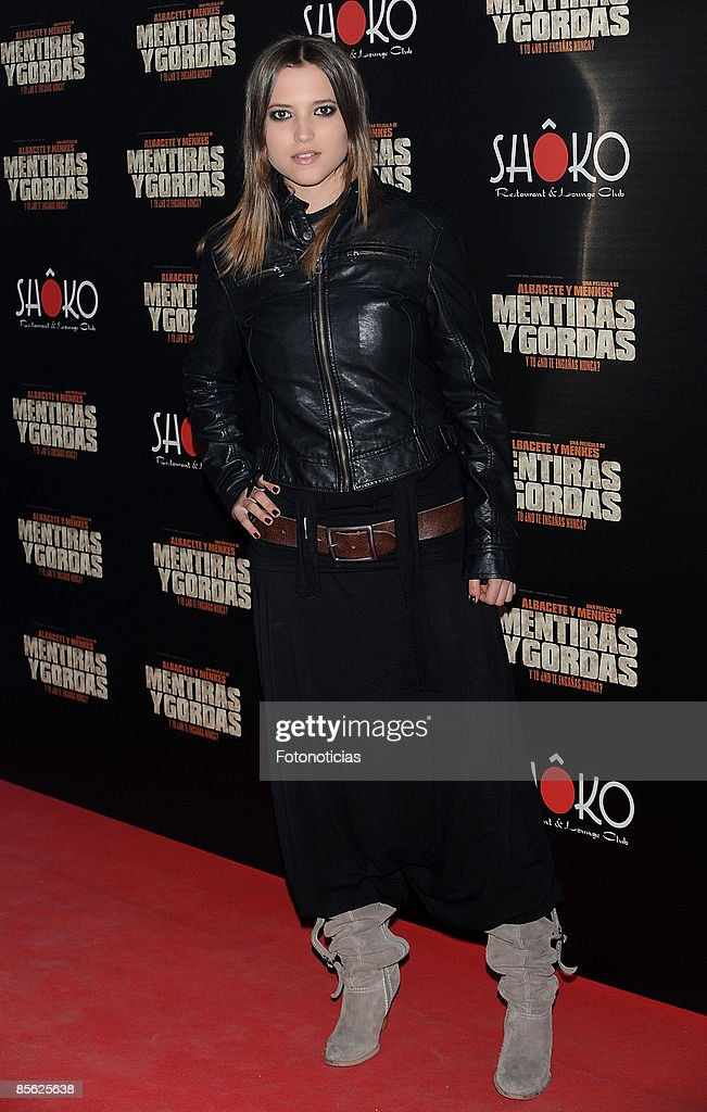 Actress Ana Fernandez arrives at 'Mentiras y Gordas' party held at Shoko on March 26 2009 in Madrid Spain