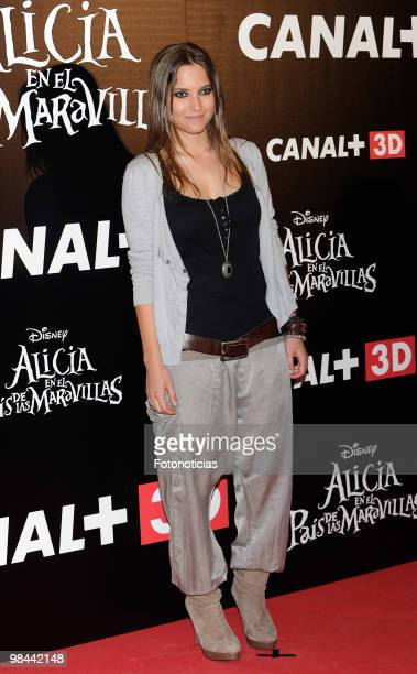 Actress Ana Fernandez attends 'Alicia en el Pais de las Maravillas' premiere at Proyecciones Cinema on April 13 2010 in Madrid Spain