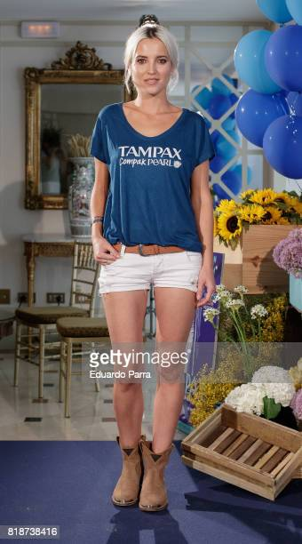 Actress Ana Fernandez attends the 'Tampax 80th anniversary' photocall at Orfila hotel on July 19 2017 in Madrid Spain