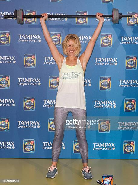Actress Ana Fernandez attends the 'Tampax Compak Pearl' photocall at O2 Gym on June 30 2016 in Madrid Spain