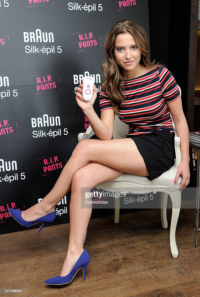 Actress Ana Fernandez presents the new Braun Silk Epil 5 on March 22 2012 in Madrid Spain