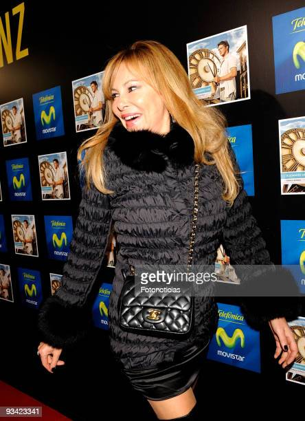 Actress Ana Garcia Obregon attends the Alejandro Sanz concert at the Compac Gran Via Theatre on November 25 2009 in Madrid Spain