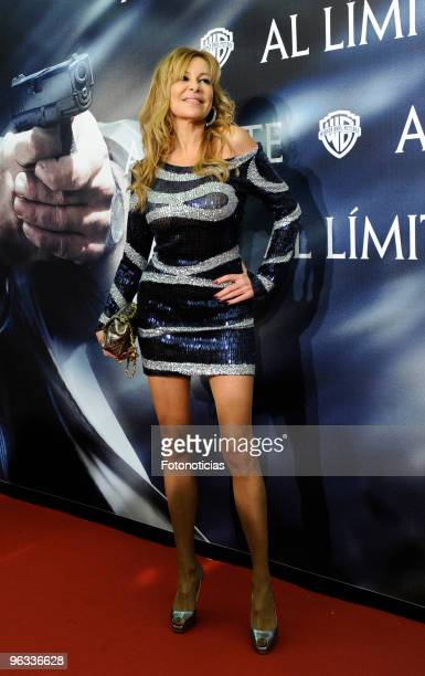 Actress Ana Garcia Obregon attends the premiere of 'Edge of the Darkness' at Palafox cinema on February 1 2010 in Madrid Spain