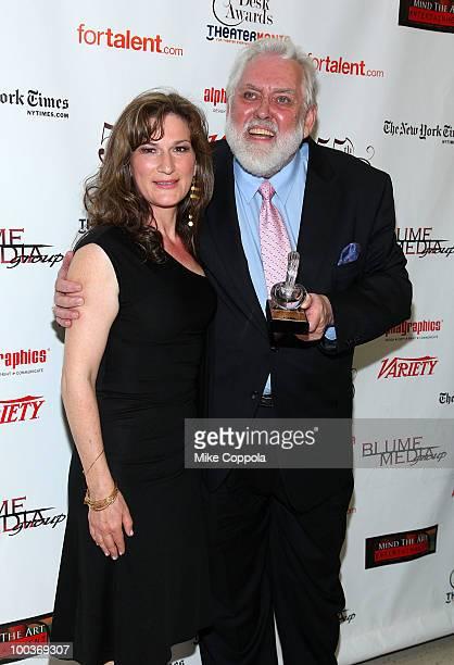 Actress Ana Gasteyer and award winner Jim Brochu at the 55th Annual Drama Desk Awards at the FH LaGuardia Concert Hall at Lincoln Center on May 23...