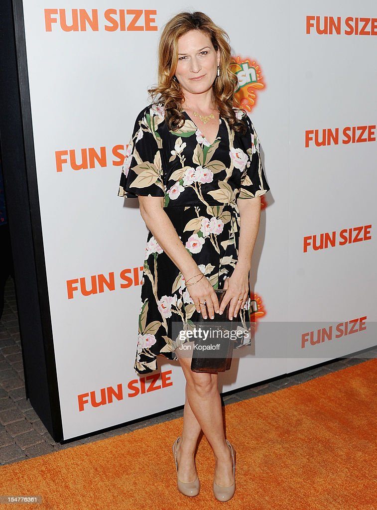 Actress Ana Gasteyer arrives at the Los Angeles Premiere 'Fun Size' at Paramount Theater on the Paramount Studios lot on October 25 2012 in Hollywood...