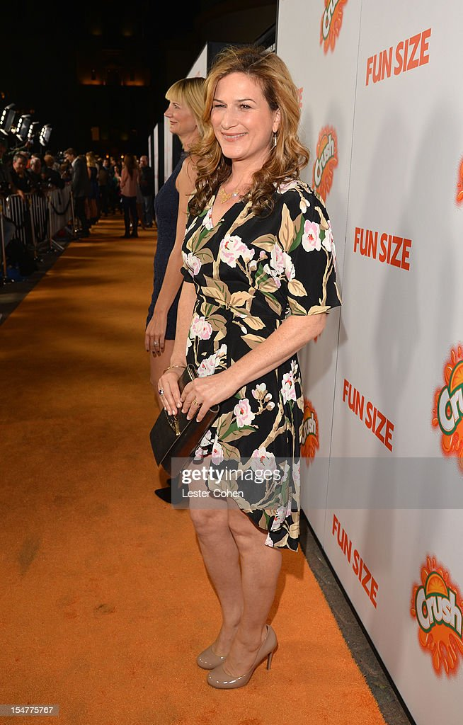 Actress Ana Gasteyer arrives at the Los Angeles premiere of 'Fun Size' at Paramount Studios on October 25, 2012 in Hollywood, California.
