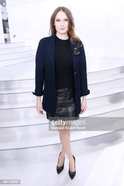 Actress Ana Girardot attends the Chanel show as part of Paris Fashion Week Haute Couture Spring/Summer 2014 on January 21 2014 in Paris France