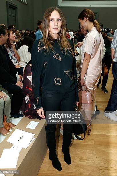 Actress Ana Girardot attends the Chloe show as part of the Paris Fashion Week Womenswear Spring/Summer 2015 on September 28 2014 in Paris France