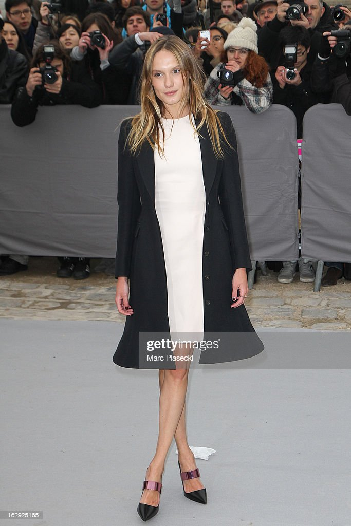 Actress Ana Girardot attends the 'Christian Dior' Fall/Winter 2013 Ready-to-Wear show as part of Paris Fashion Week on March 1, 2013 in Paris, France.