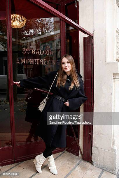 108612004 Actress Ana Girardot is photographed for Madame Figaro on December 2 2013 in Paris France Clothing boots PUBLISHED IMAGE CREDIT MUST READ...