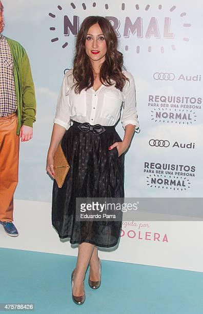 Actress Ana Morgade attends 'Requisitos para ser una persona normal' premiere at Palafox cinema on June 3 2015 in Madrid Spain